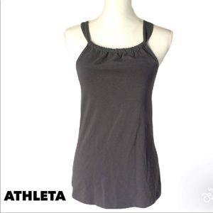 Athleta grey halter tank top